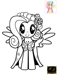 Download Coloring Pages Fluttershy Little Pony To
