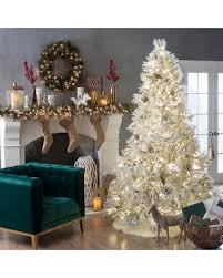 7 Ft White Pre Lit Christmas Tree by Snag This Winter Sale 36 Off Gerson Company Deluxe Flocked