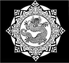 Chinese Patterns Stained Glass Coloring Book
