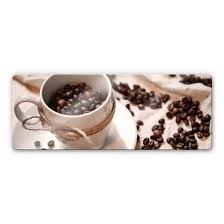 glasbild kaffee zauber panorama