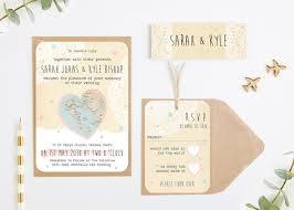 Rustic Map Wedding Invitations