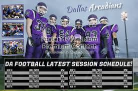 Football Sports Team Schedule Template
