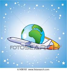 Clipart Of Travelling Around The World K1406161