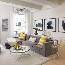 Yellow And White Living Room Home Decoration Within Gray Rooms
