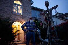 Naperville Halloween House A Youtube by Leo Mcnamee Poses Next Some His Halloween Decorations Outside His