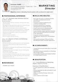 Resume Format For Directors Profile