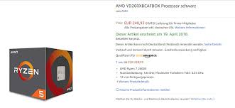 amazon si e amd ryzen 5 2600x accidentally listed on amazon techpowerup