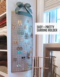 Make This DIY Hanging Earring Holder In 10 Minutes Or Less Keeps Your Jewelry Untangled
