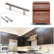poign de placard cuisine 20pcs t bar bâton cuisine armoire porte poignées entraxe 96 mm