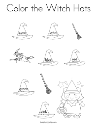 Color The Witch Hats Coloring Page