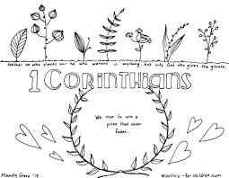 Corinthians Bible Book Coloring Page
