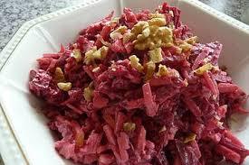 chrissis rote bete apfel salat mit meerrettich