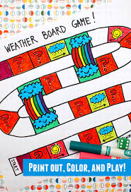 Fun Science Game For Kids Printable Weather Board Preschoolers