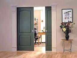 interior pocket doors with glass panels