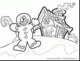 Impressive Gingerbread Man Coloring Pages Hicoloringpages With House And Sheets