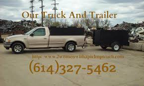 Hauling Columbus Ohio | 2 Women With A Pickup Truck And Trailer Too