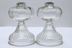 antique vintage glass oil ls large old fashioned kerosene l