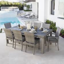Wayfair Patio Dining Sets by 9 Piece Poly Wood Extendable Outdoor Patio Dining Set Rustic Gray