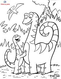 Cute Dinosaur Coloring Page Printable For Kids