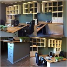 travaux de bureau notre bureau diy à partir de meubles ikea besta kallax alex