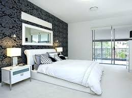 Modern Bedroom Feature Wall Ideas Dark Paint Interior Decoration Living