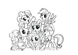 My Lil Pony Coloring Pages Little Medium Size Of