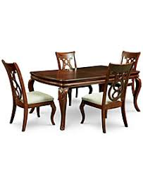 Bordeaux 5 Pc Dining Room Set Table 4 Side Chairs