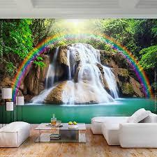 vlies fototapete wasserfall natur 3d effekt tapete wandbilder wohnzimmer 68 ebay