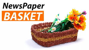Making Handmade Baskets From Newspapers Is Very Exciting And A Popular DIY Crafts For Adults It Involves Rolling Into Long Narrow Tubes