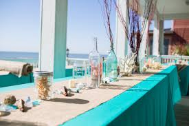 Beach Wedding Coral Turquoise Theme Centerpieces