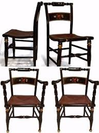 free shipping beautiful set of 4 hitchcock era boling chair co