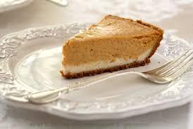 Pumpkin Layer Cheesecake by Vegan Double Layer Pumpkin Cheesecake