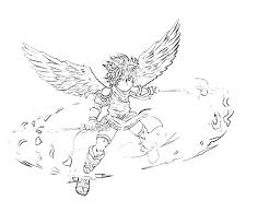 Kid Icarus Dark Pit Weapon Coloring Pages