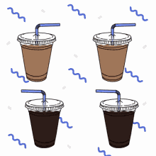 Iced Coffee Summer GIF