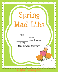 Halloween Mad Libs Free by Spring Mad Libs Amy U0027s Wandering