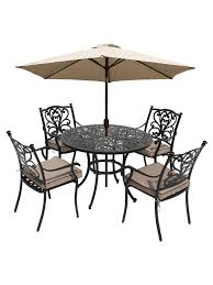 LG Outdoor Devon 4 Seater Garden Dining Table And Chairs Set With Parasol,  Bronze Hampton Bay Statesville 5piece Padded Sling Patio Ding Set With 53 In Glass Top Garden Fniture Wikipedia 6 Seater Outdoor Fniture Table And Chairs Cushion Sets Mandaue Foam Great Round Remodel Torino 7 Piece A Guide To Chair Height Branch Outdoor Table Metal From Trib 4 Bistro Steel Heart Cream Devoko 9 Pieces Space Saving Rattan Cushioned Seating Back Sectional