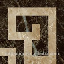 Italian Decorative Marble Flooring Laminated Line Border Designs
