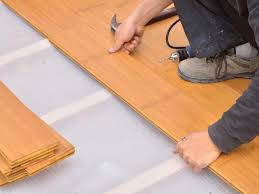 Installing Laminate Floors Over Concrete by Bamboo Floor Installation Diy