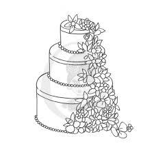 Drawn cake wedding cake 4