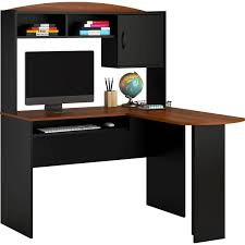 Walmart Computer Desks Canada by Amazon Com Home And Office Wooden L Shaped Desk With Hutch A