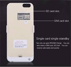 3500mAh Power Bank Backup Battery Case Charger Cover SD SIM Card