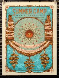 OMG Posters Archive Summer Camp Music Festival Poster By Half