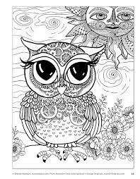 Printables Inspiration Graphic Coloring Pages Of Owls For Adults