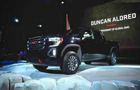 2019 GMC Sierra Packs More Off-road With New AT4 Package   Driving 2019 Gmc Sierra Concept Pickup Truck Canada Youtube 1955 Luniverselle Gm 3500 Hd Denali 2018 Motor Trend Of The Year Ny Auto Show Vw And Steal Headlines Gearjunkie All Terrain Future Concepts Chicago Preview Xt Hybrid Carscoops Bangshiftcom A Spectre Of The Past This 1990 Could Be 2500 Mountain Can Go Anywhere On Davis Buick 20 Spied With Luxurylevel Upgrades Colors Price Car Truckon Offroad After Pavement Ends