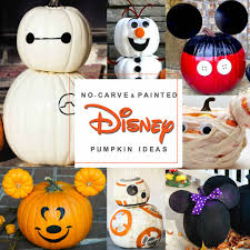 Star Wars Pumpkin Carving Ideas 2015 by Disney Painted Pumpkins Over 45 No Carve Disney Pumpkin Ideas