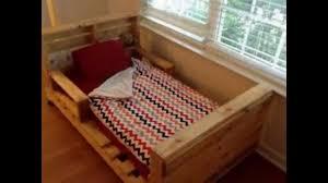 Pallet Bed Frame by Diy Old Pallets Beds Youtube
