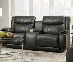 velocity double reclining sofa with console power headrest by