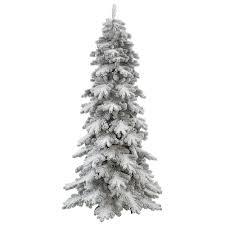 White Snow Skinny Pre Lit Christmas Tree Inspiring