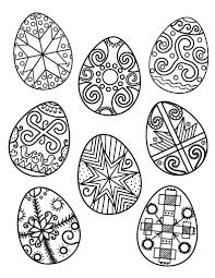 Free Ukrainian Easter Egg Coloring Page