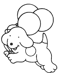Easy Dog Coloring Pages Kids